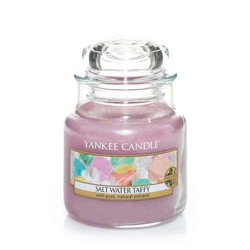 vela aromática small jar salt water taffy yankee candle