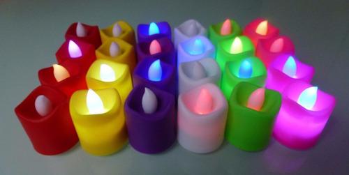 vela de colores led x 10 unid $ 245  decoración cotillón
