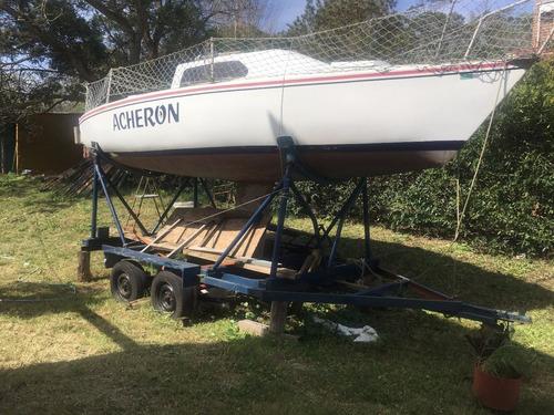 velero completo. b.uruguay. 22 pies. con trailer.