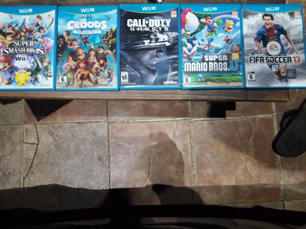 Vendo Cinco Juegos Originales Wiiu Funcionando 111 00 En Mercado