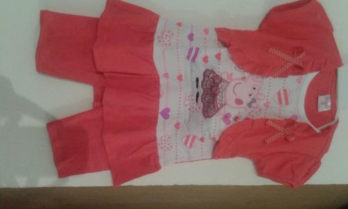 vendo conjunto de niña ( calza y vestido) minnie y peppa