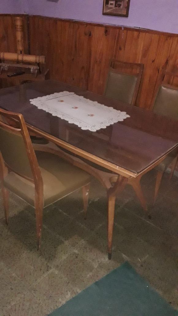 Vendo Mesa De Comedor Madera Antigua Desplegable Hasta 2.20 - $ 3.000,00