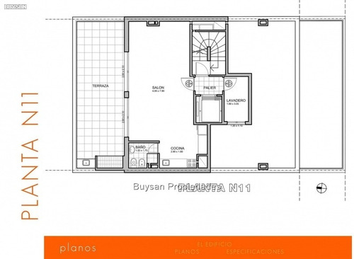 vendo o alquilo apartamento con terraza, 1 dormitorio