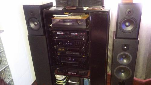 vendo o permuto cajas de audio laqueadas negras unisound