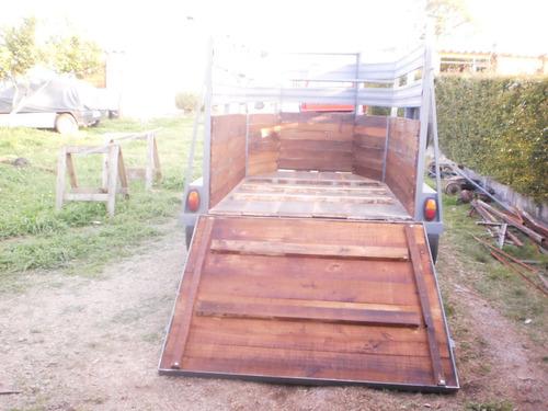 vendo trailer doble eje para caballo