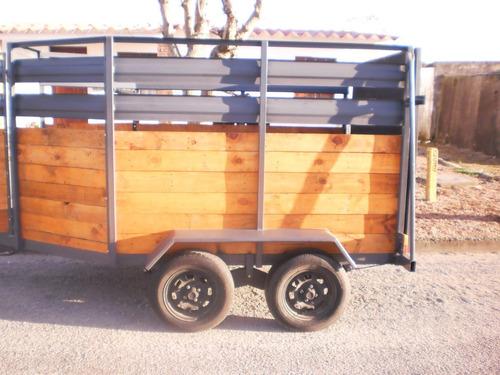vendo trailer doble eje para dos caballos, o zorra