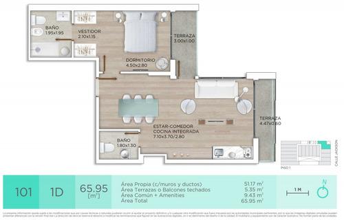 venta apartamento, 1 dormitorio, parque rodó, julio 2020!