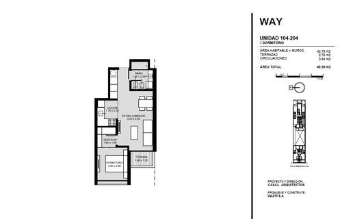 venta apartamento 1 dormitorio pocitos. invertir en el pozo