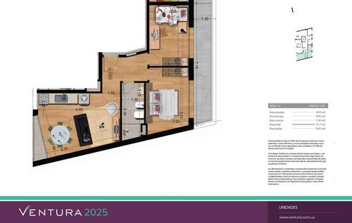 venta apartamento 2 dormitorios - ventura 2025