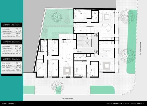venta apartamento jacinto vera 3 dormitorios estrenar