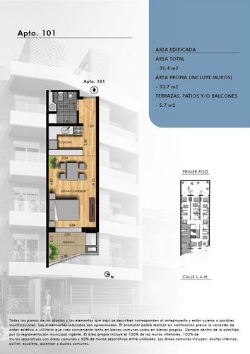 venta! apartamento monoambiente con parrillero en buceo!