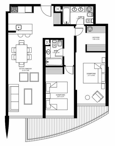 venta apto 2 dormitorios artower - pta del este