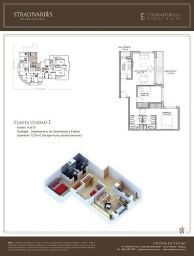 venta apto 2 dormitorios stradivarius - pta del este