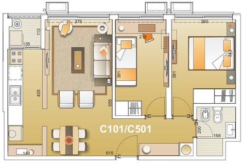 venta de apto 2 dromitorios y garaje en malvín. e-tower sky