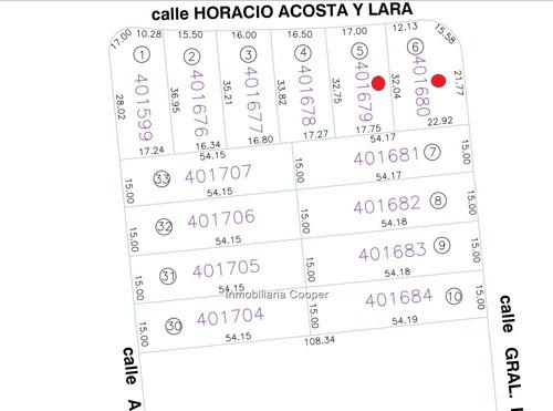 venta terreno carrasco norte 1256 m2