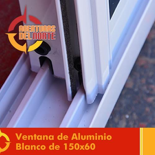 ventana aluminio blanco repartido 150x60  fabrica