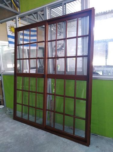 ventana coloniales de aluminio cristal enteros/cortina y mas