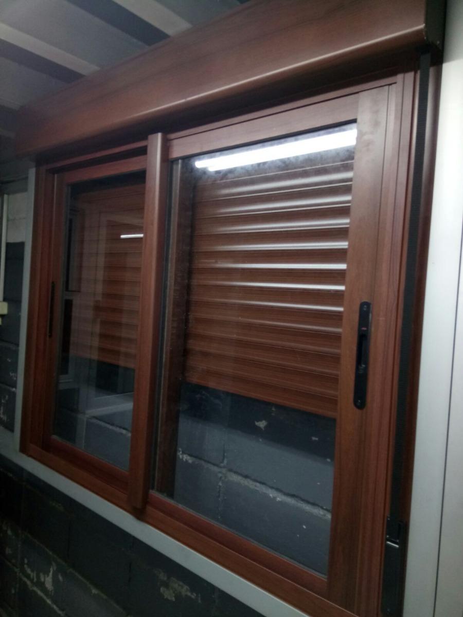 Ventana corrediza aluminio imitaci n madera for Ventanas de madera mercadolibre argentina