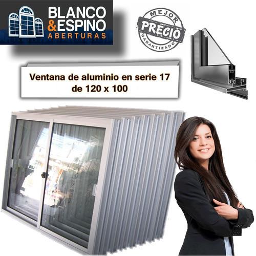 ventana de aluminio de 120x100 oferta imperdible!!!