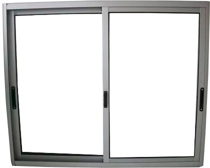 ventana en aluminio 150 x 150 con reja barrote de 12