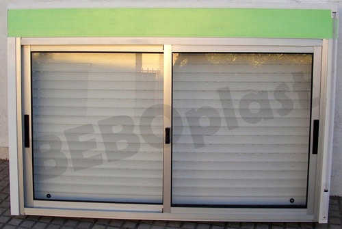 ventanas aluminio c/cortina enrrollar sistema monoblock.
