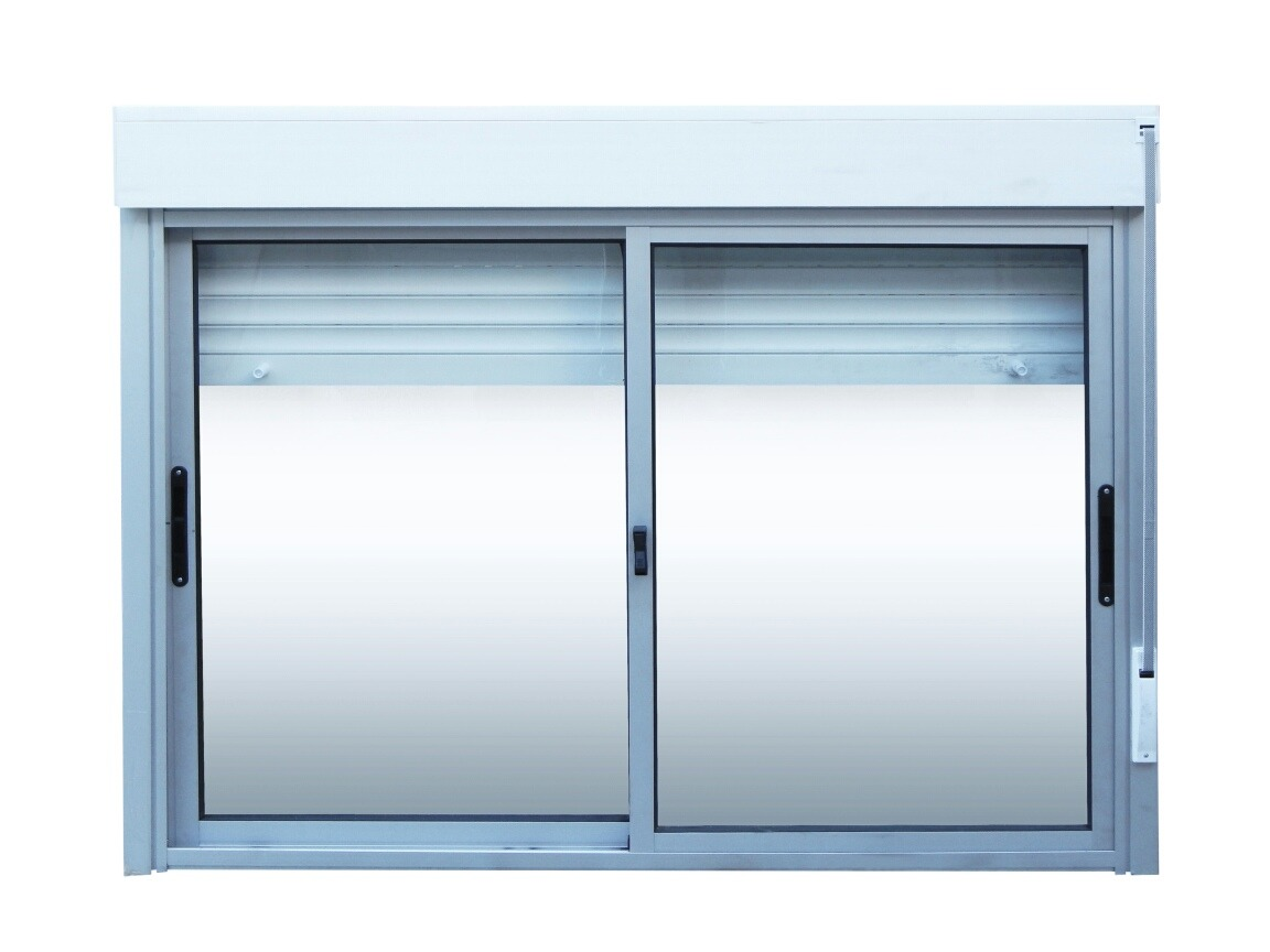 Ventanas aluminio monoblock persiana enrollar 150 x 120 for Ventanas de aluminio cordoba