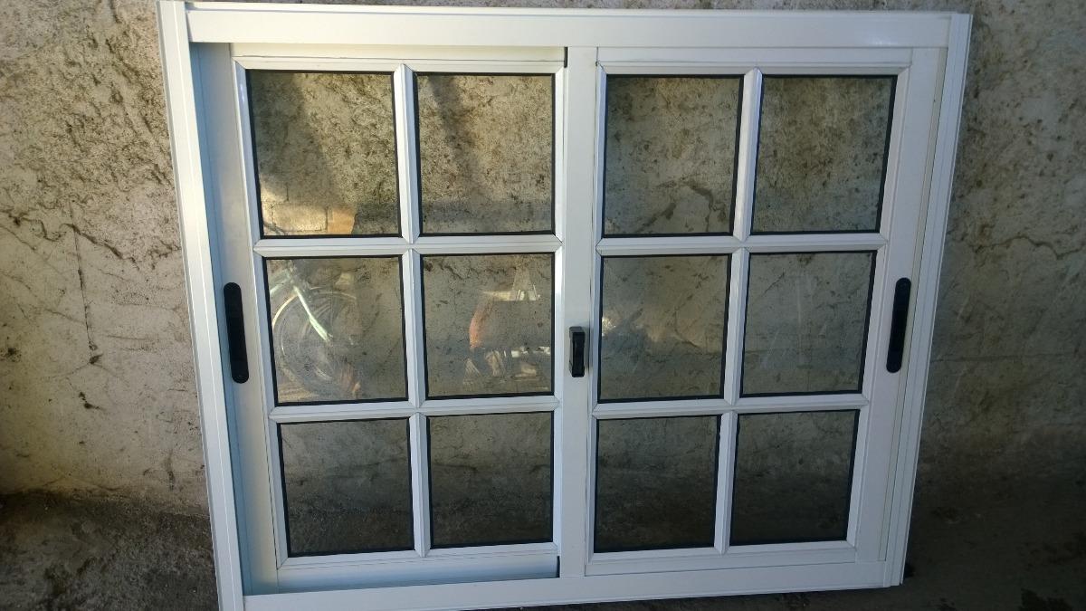 Ventanas coloniales de 100 x 100 color blanco aluminio for Ventanas aluminio color titanio