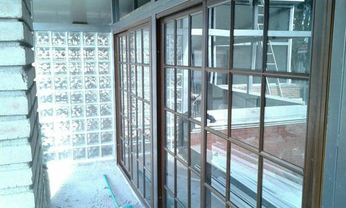 ventanas de aluminio coloniales  1.20 x 1.0 simil madera