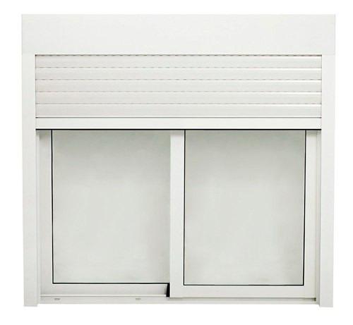 ventanas de alumino monoblock cajon y cortina pvc 120x100