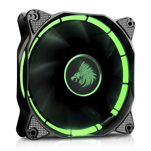 ventilador eagle warrior halo led verde 120mm para gabinet