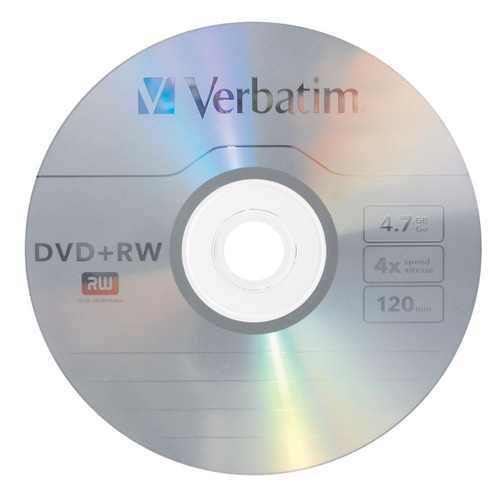 verbatim 4.7 gb 1x4x rewritable disc dvd+rw10-disc