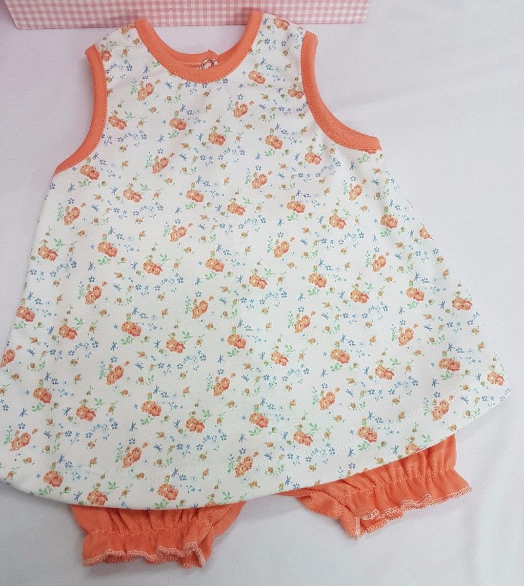 Vestido Con Bombacha Para Bebe Algodón Estampado