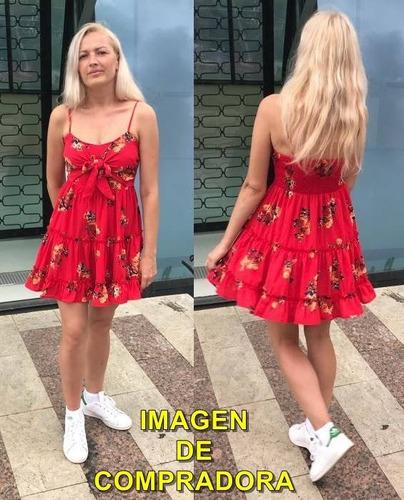 vestido corto floral primavera verano ve34 |por encargue|