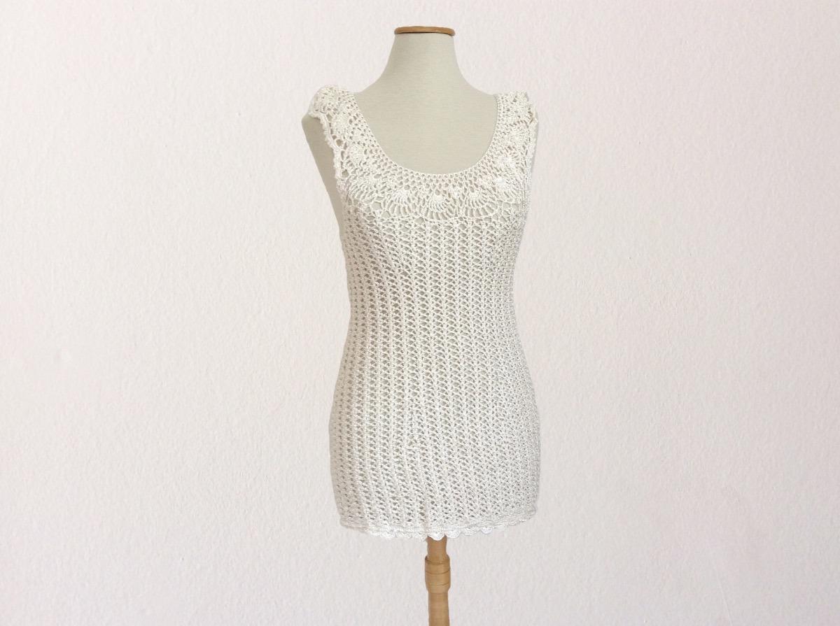 Vestido Crochet Minifalda En Seda Para Fiesta - $ 1.200,00 en ...