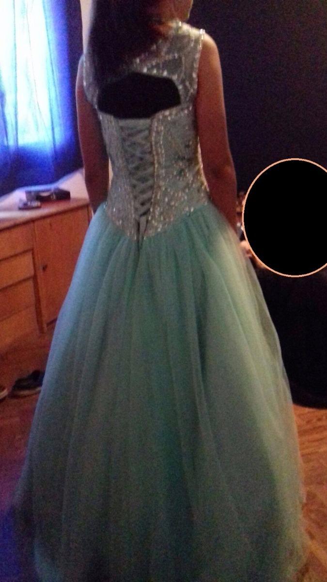 f70cbfa7d vestido de 15 años color verde agua. Cargando zoom.