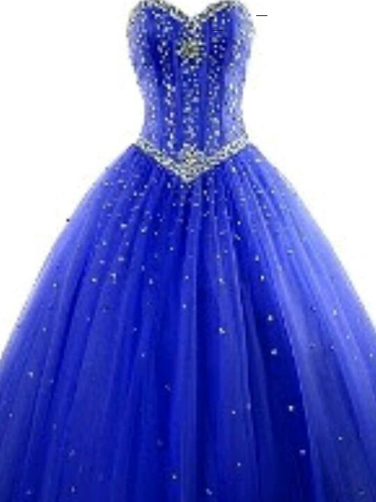 Azul vestidos 15
