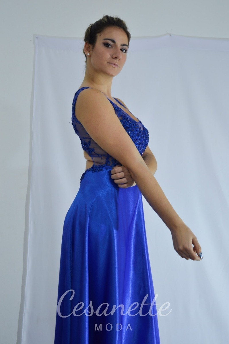 675fc1965d vestido de fiesta azul francia cesanette moda. Cargando zoom.