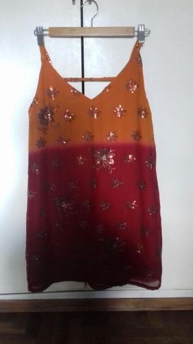 vestido de fiesta de malabia. muy poco uso.