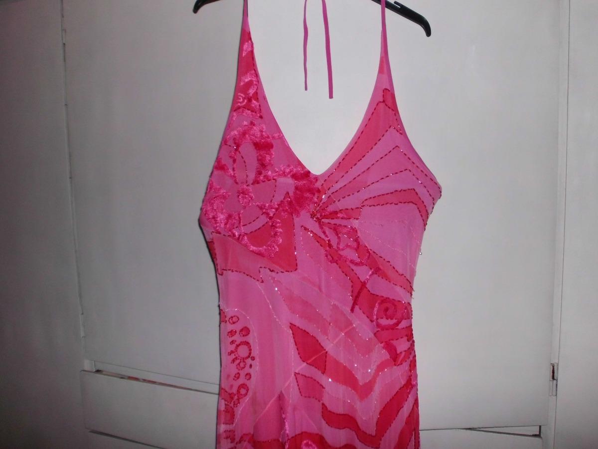 Vestido De Fiesta Importado Color Fusia - $ 2.900,00 en Mercado Libre