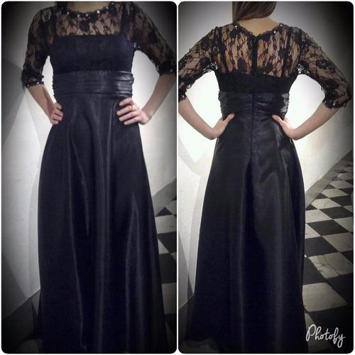 vestido de fiesta negro con encaje!! liquidooo