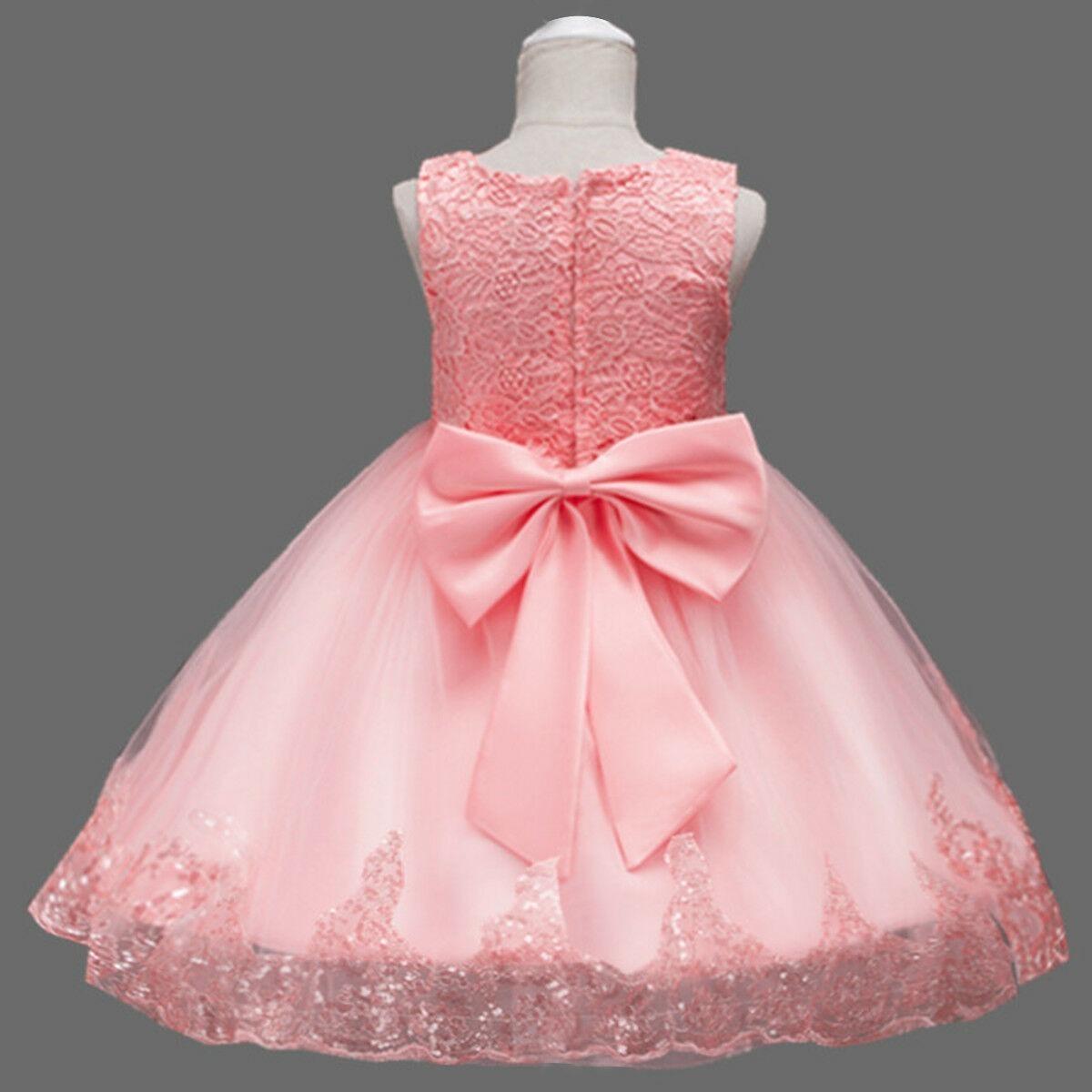 Vestido De Fiesta Para Niña 4 Años Color Coral Salmon