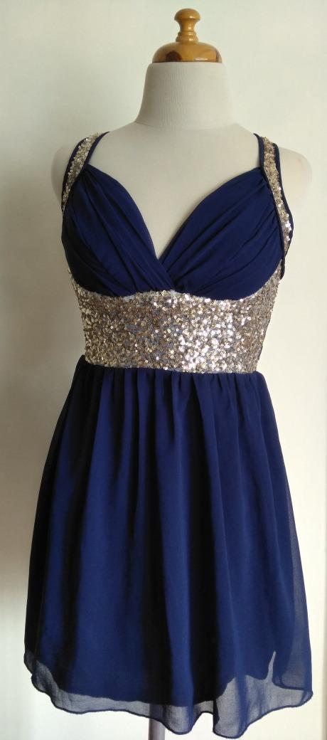 Vestidos de gasa color azul