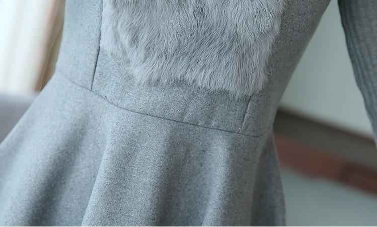 3f210375a Vestido De Invierno Con Lana Por Encargue - $ 2.170,00 en Mercado Libre