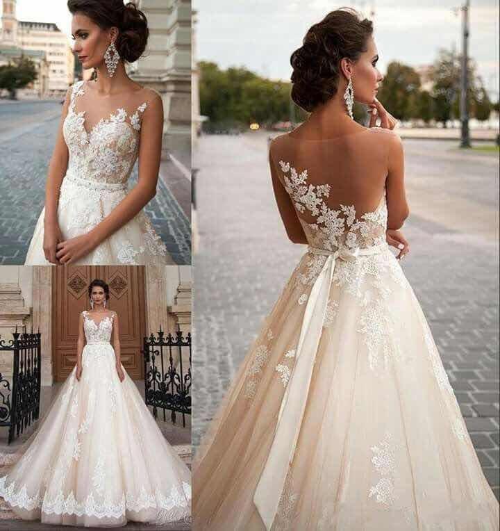 vestido de novia - color champagne - $ 15.000,00 en mercado libre