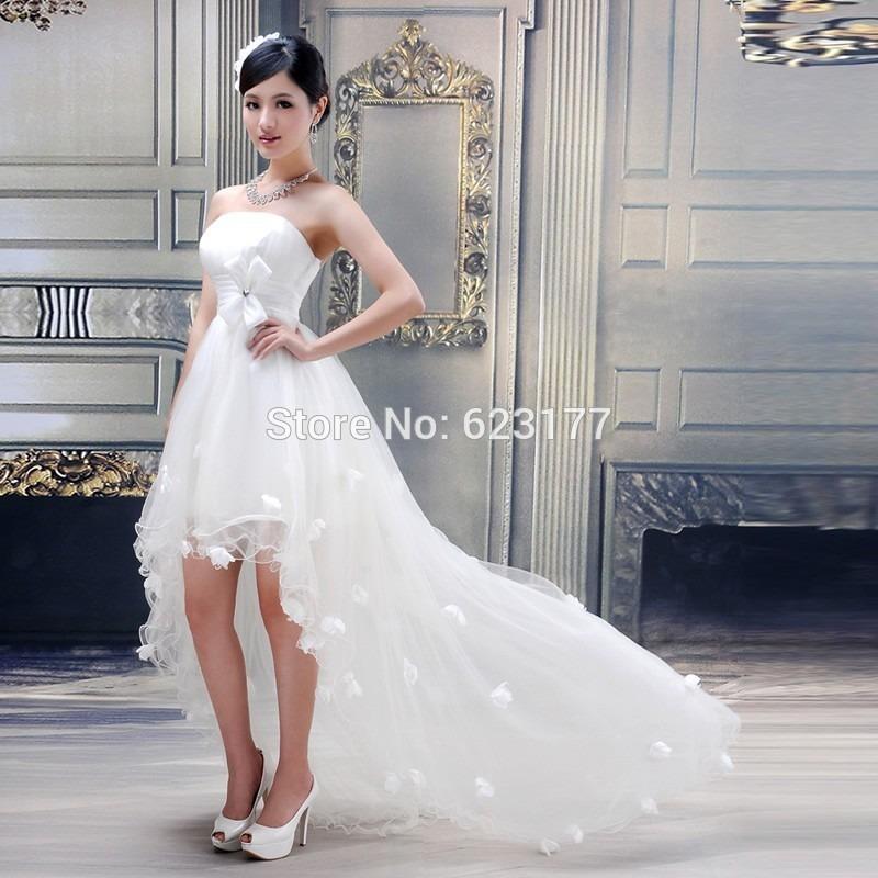 vestido de novia corto adelante largo atrás (por encargue) - u$s 219