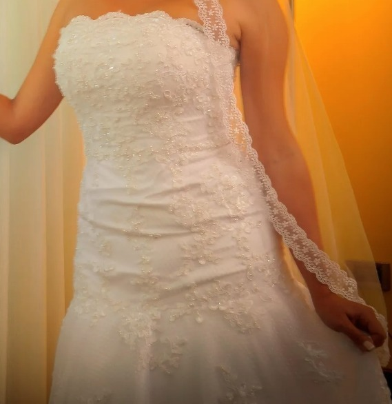 2d1d6a7b0 Vestido De Novia Impecable Solo Usado Unas Horas -   6.999