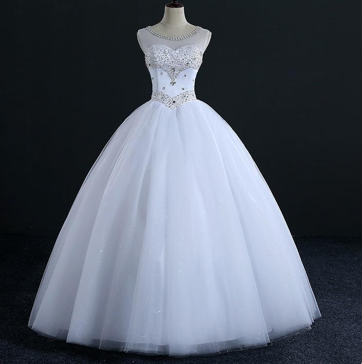 vestido de novia o 15 años tul cristales solo por encargue - $ 9.800