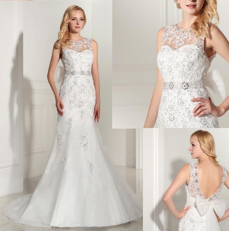 vestido de novia sirena bordado piedras venta por encargo - $ 15.000
