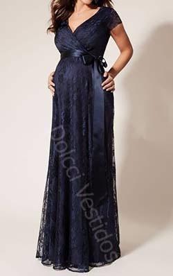 vestido em renda, longo para gravidas, manga curta com cinto