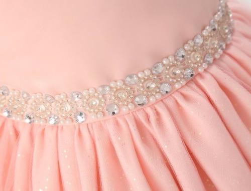 vestido festa menina rosa princesa daminha formatura luxo